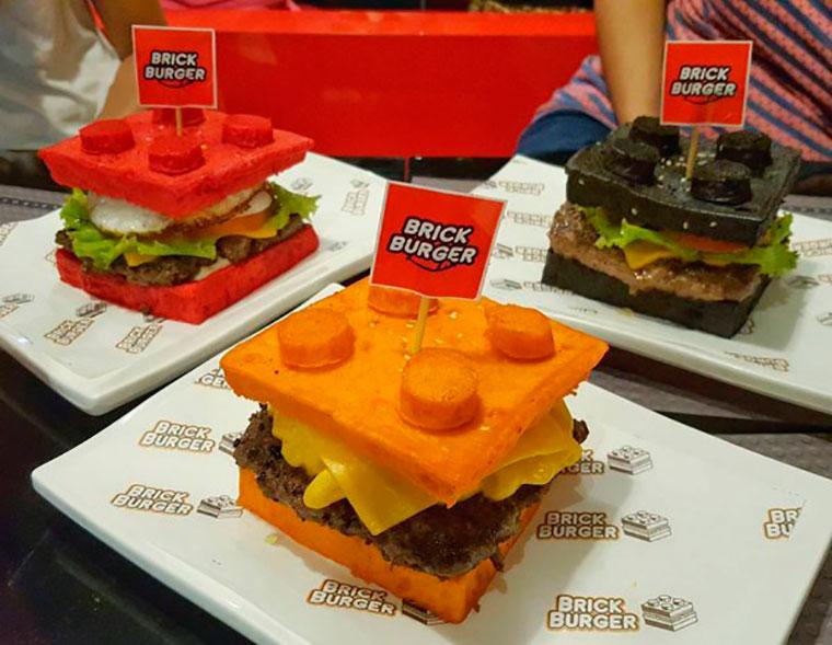 бургеры в виде кубиков лего